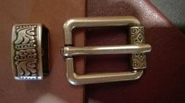 Gürtel- Taschenschnalle mit Verzierung 20mm
