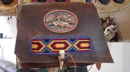 Handgefertigte Ledertasche Indianstyle
