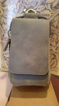 Leder-Gürteltasche im Vintage-Style
