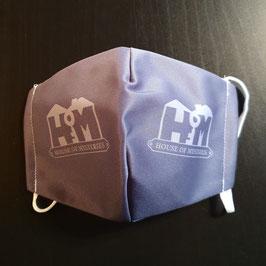 """Mund-Nasen-Bedeckung (""""Mauldäschle""""), mit """"House of Mysteries""""-Logo, 1er-Pack oder 3er-Pack"""