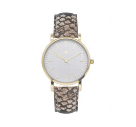 Ikki Horloge - JM18 Goud/Leer