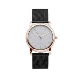 IKKI Horloge - IE02 Zwart/Rosé