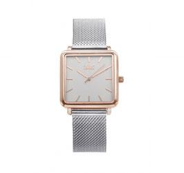 IKKI Horloge - TE04 Zilver/Rosé