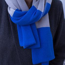 Wendeschal Strick Blau / Grau