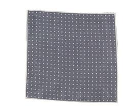 Einstecktuch grau mit Punkten