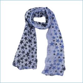 Blauer Schal mit Sternen