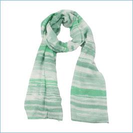 Schal grün weiß gestreift
