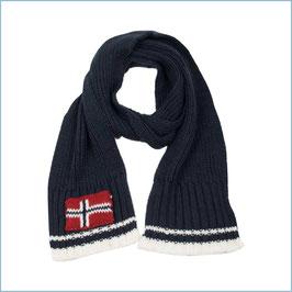 Blauer Strickschal Norwegen