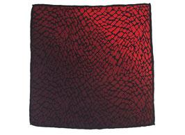 Rotes Einstecktuch mit Marmormotiv