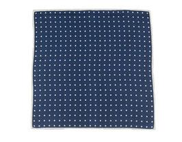 Einstecktuch blau mit Punkten