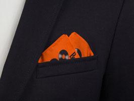 The Beatles Einstecktuch neon mit Vinyl-Schallplatten in Orange