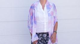 Pastellfarbener Schal mit Kreisen