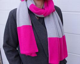 Wendeschal Strick Pink / Grau