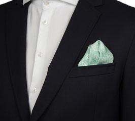 Mintgrünes Einstecktuch mit Paisleymuster