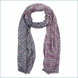 Schal pink mit Farbverläufen