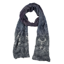 Schal mit großem Paisleymuster und Farbverläufen