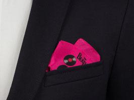 The Beatles Einstecktuch neon mit Vinyl-Schallplatten in Pink