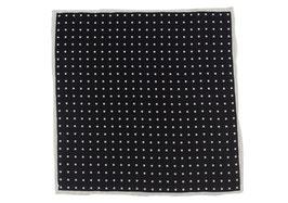 Einstecktuch schwarz mit Punkten