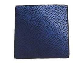 Blaues Eintecktuch mit Marmormotiv