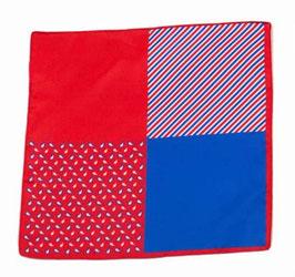Rotes Einstecktuch mit gespiegeltem Muster