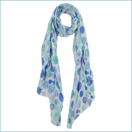 Schal mit blauen Sprenklern