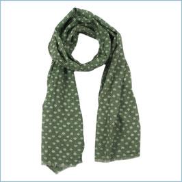 Schal olivgrün mit weißen Punkten