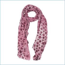 Roter Schal mit Sternen