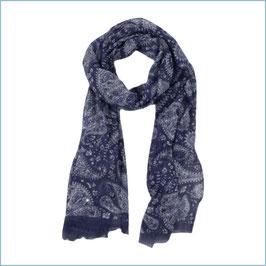 Blauer Schal mit Paisleymuster