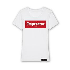 """DamenShirt """"Vintage Red LogoBox"""" (weiß)"""
