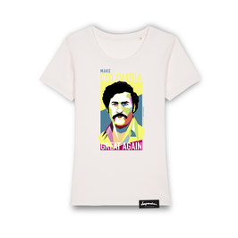"DamenShirt ""COLOMBIA"" (vintage white)"