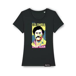 """DamenShirt """"COLOMBIA"""" (schwarz)"""