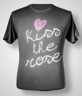 "T-Shirt ""Kiss the Rose"" (Dark Grey) für Herren"