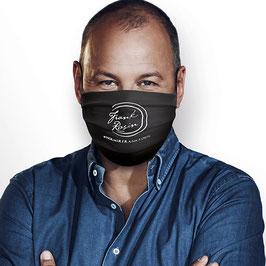 Maske mit Frank Rosin Logo