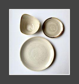 Churchill Stonecast Geschirr Nutmeg Cream mit Autogramm