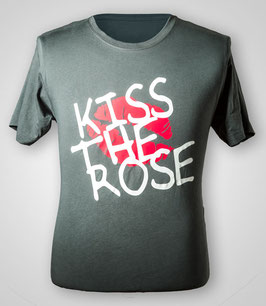 "T-Shirt ""Kiss the Rose"" (Asphalt) für Herren"
