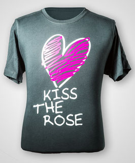 "T-Shirt ""Kiss the Rose"" (Dark Denim) für Herren"