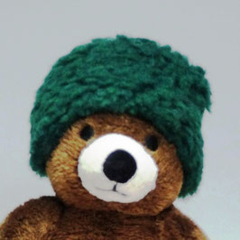 "bonnet ""green fluffy"""