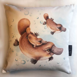 Platypus Family  Cotton Cushion