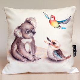 Koala, Kookaburra & Rosella Cushion