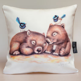Sleepy Wombats Cushion