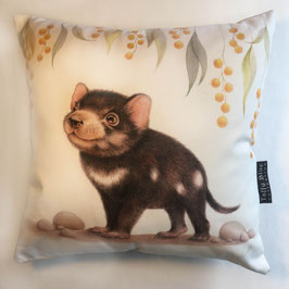 Tassie Devil Cotton Cushion