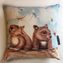 Beach Wombats Cotton Cushion