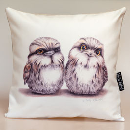 Tawny Frogmouths Cushion