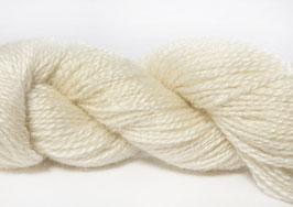 2-fädiges Kidmohair - Hvid - 50g