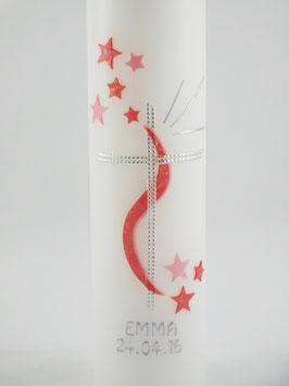 Taufkerze Stars elegant