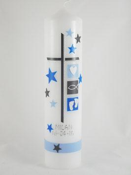Junge hellblau mit Sternen