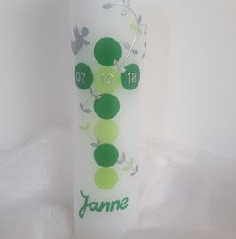 Taufkerze hellgrün / grün
