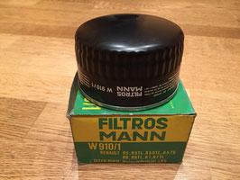 Filtro Aceite Mann W910/1 Renault 6,4,5,7,15,16,17 y Alpine*****