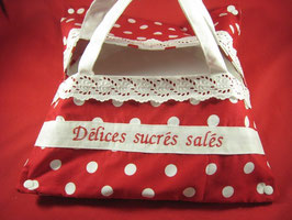"Sac à tarte et cake ""Rouge pois"""