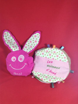 Pack Bouillotte sèche lapin - Livre en tissu